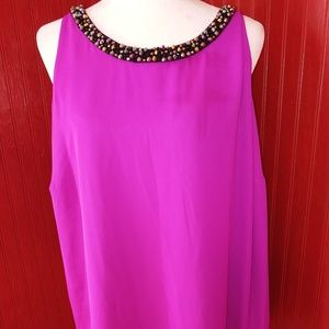 NWT Jennifer Lopez Beaded Blouse 1X
